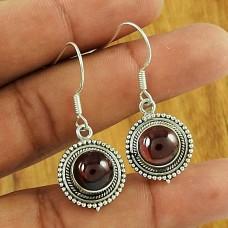 Pleasing Garnet Gemstone Earring 925 Sterling Silver Traditional Jewellery