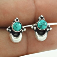 Royal Style Turquoise Gemstone 925 Sterling Silver Earrings Manufacturer