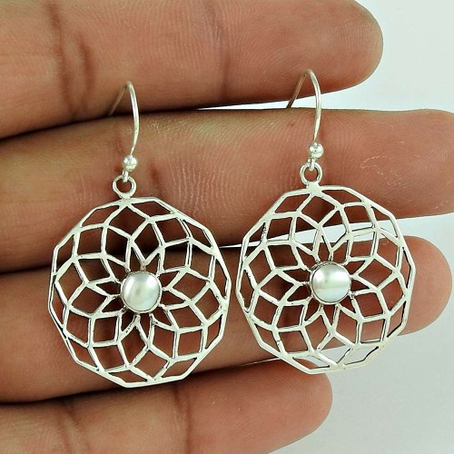 All Us ! 925 Sterling Silver Pearl Earrings Fournisseur