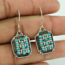 Big Royalty Style!! 925 Sterling Silver Turquoise Earrings Manufacturer