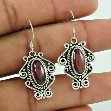 Passionate Modern Style Of !! Garnet 925 Sterling Silver Earrings Wholesaler