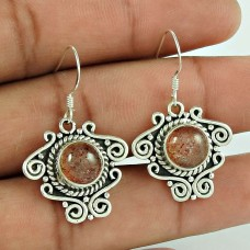 Fabulous !! 925 Sterling Silver Real Sunstone Earrings Supplier