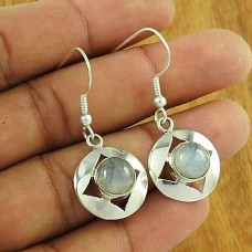 Unique Design 925 Sterling Silver Rainbow Moonstone Earring Jewellery