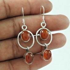 Scrumptious 925 Sterling Silver Carnelian Gemstone Earring Jewellery