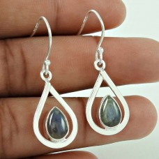 Nice Looking ! Labradorite Gemstone Silver Jewellery Earrings Wholesaling