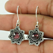Royal Style Garnet Earrings Gemstone Sterling Silver Jewellery Wholesaling