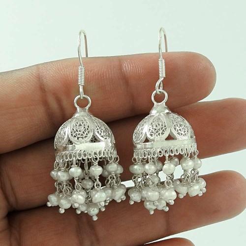 Big Royal ! 925 Sterling Silver Pearl Earrings Wholesale