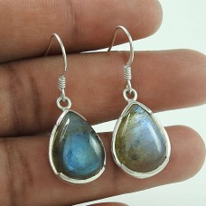 Big Secret Labradorite Gemstone 925 Sterling Silver Earrings Supplier India