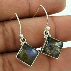 Secret Creation Labradorite Gemstone 925 Sterling Silver Earrings Exporter India