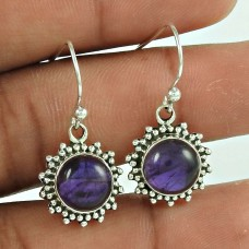 Blooming Garden ! Amethyst 925 Sterling Silver Earrings Jewellery Wholesale Price