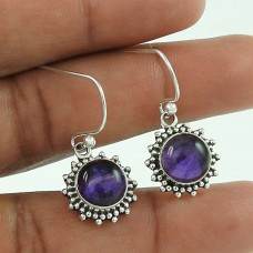 Breathtaking ! Amethyst 925 Sterling Silver Earrings Al por mayor