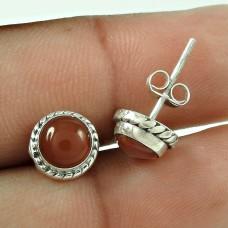 Lavender Dreams !! 925 Sterling Silver Carnelian Stud Earrings Fournisseur