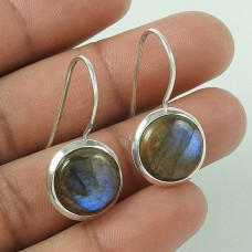 Stunning!! Labradorite 925 Sterling Silver Earrings