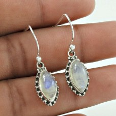 New Fashion ! 925 Sterling Silver Rainbow Moonstone Earrings Wholesale