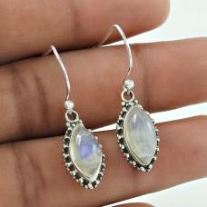 New Fashion ! 925 Sterling Silver Rainbow Moonstone Earrings Wholesale