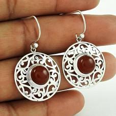 Summer Stock!! 925 Sterling Silver Carnelian earrings Exporter India