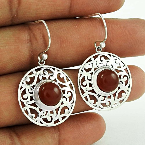 Summer Stock!! 925 Sterling Silver Carnelian earrings Exporter India