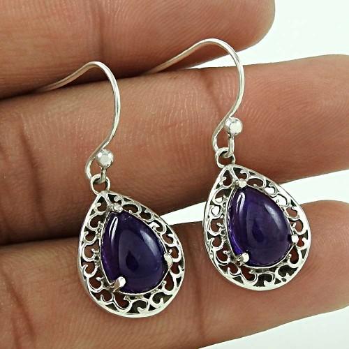 Fabulous!! 925 Sterling Silver Amethyst earrings Fournisseur