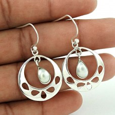 New Fashion! 925 Sterling Silver Pearl Earrings Fabricant