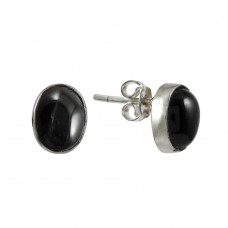 Fabulous Black Star Gemstone Silver Earrings Jewellery Mayorista