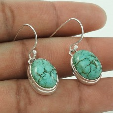 New Arrival ! Turquoise Gemstone Silver Jewellery Earrings De gros