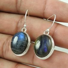Amusable ! Labradorite Gemstone Silver Jewellery Earrings Wholesaler