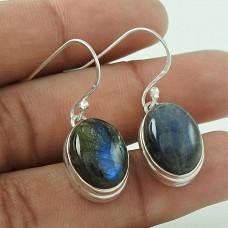 Charming ! Labradorite Gemstone Silver Jewellery Earrings Supplier