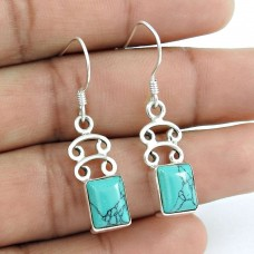 New Fashion Turquoise Gemstone Sterling Silver Earrings Jewellery Proveedor