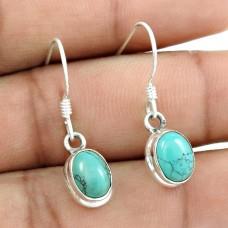 Daily Wear Turquoise Earrings Gemstone Sterling Silver Jewellery Großhandel