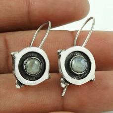 Gemstone Silver Jewellery !! Rainbow Moonstone 925 Sterling Silver Jewellery Earrings Mayorista