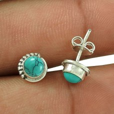 Paradise Bloom Turquoise Gemstone Sterling Silver Stud Earrings Handmade Jewellery Wholesale