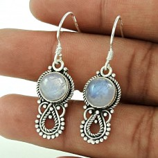 Sizzling Rainbow Moonstone Sterling Silver Jewellery Earrings Fabricante