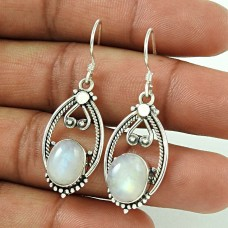 Scenic Rainbow Moonstone Sterling Silver Jewellery Earrings Wholesale