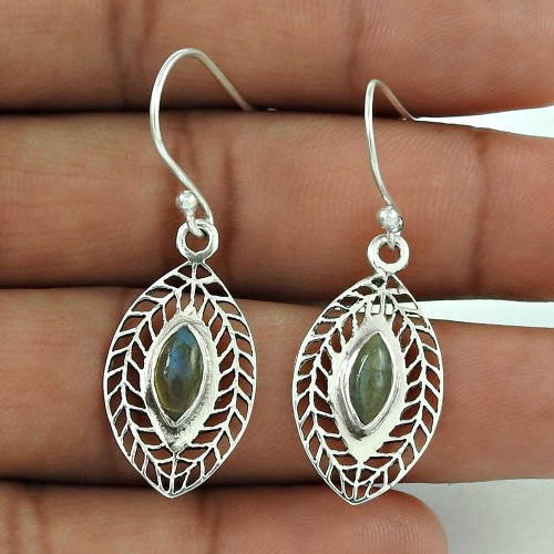Good-Looking Labradorite Gemstone Dangle Earrings 925 Sterling Silver Antique Jewellery Wholesaler