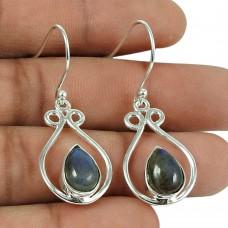 Graceful Labradorite Gemstone 925 Sterling Silver Earrings Jewellery