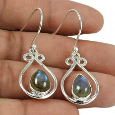 Stunning Labradorite Gemstone 925 Sterling Silver Earrings Jewellery