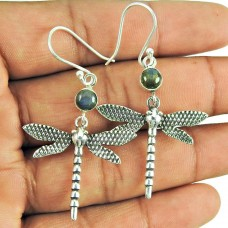 Beautiful Labradorite Gemstone Butterfly Earrings 925 Silver Jewellery