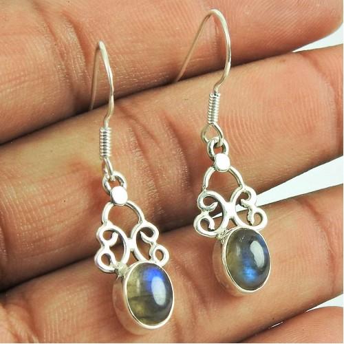 Well-Favoured Labradorite Gemstone Dangle Earrings 925 Sterling Silver Jewellery