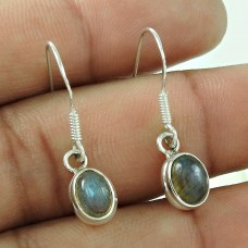 Scenic Labradorite Gemstone Dangle Earrings Sterling Silver Jewellery