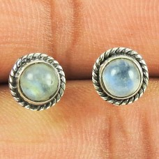 Pleasing Labradorite Gemstone Stud Earrings 925 Sterling Silver Jewellery