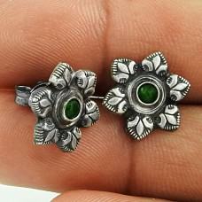 Before Time Green Onyx Gemstone 925 Sterling Silver Stud Earrings Wholesaling