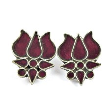 925 Sterling Silver Jewellery Traditional Inlay Drop Earrings Supplier