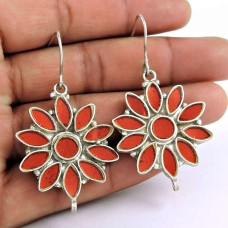 Handmade 925 Sterling Silver Antique Glass Earrings Ethnic Jewellery
