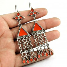 Rattling 925 Sterling Silver Antique Glass Earrings