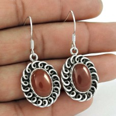 Classic 925 Sterling Silver Carnelian Gemstone Earring Jewelry Fabricante