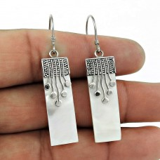 Daily Wear 925 Sterling Silver Mother of Pearl Gemstone Earring Jewelry