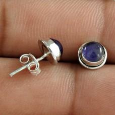 Wholesale 925 Sterling Silver Amethyst Gemstone Stud Earring