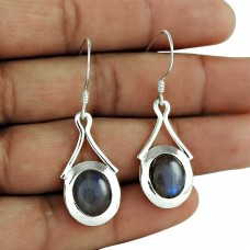 Secret Design 925 Sterling Silver Labradorite Gemstone Earring