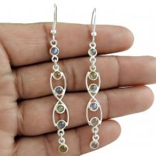 Well-Favoured 925 Sterling Silver Labradorite Gemstone Earring Jewelry Mayorista