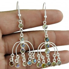 Latest Trend 925 Sterling Silver Labradorite Gemstone Earring Vintage Jewelry Wholesaler